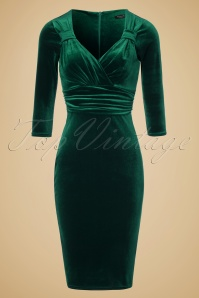 Vintage Chic TopVintage Exclusive Velvet Pencil Dress 100 20 19631 20161010 0003W   kopie