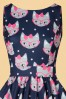 Lady V Retro Cat Print Tea Dress 102 39 20093 20161010 0015c