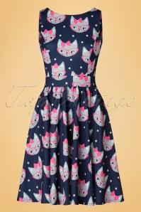 Lady V Retro Cat Print Tea Dress 102 39 20093 20161010 0014w