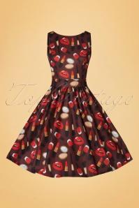 Lady V Make up Print Tea Dress 102 79 20094 20161010 0018w