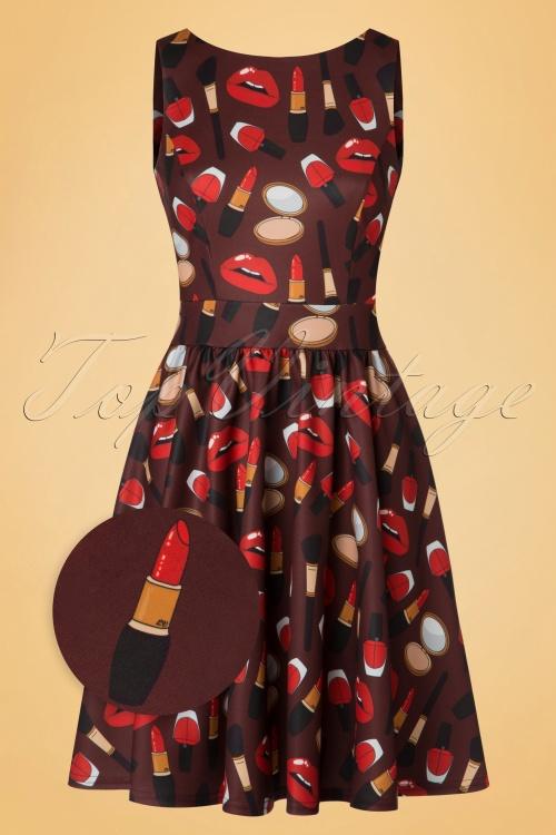 Lady V Make up Print Tea Dress 102 79 20094 20161010 0016wv
