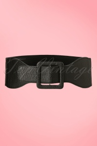 Banned Retro 50s Ladies Day Out Square Belt in Black
