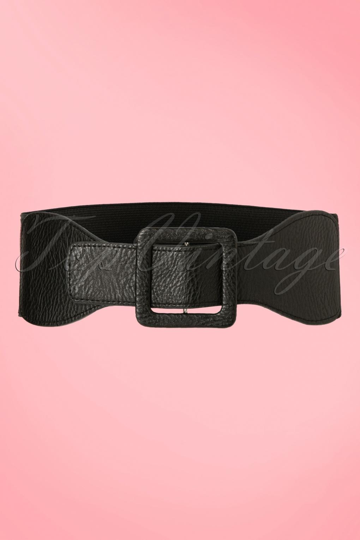 Vintage Wide Belts, Cinch Belts 40s, 50s Belts 50s Ladies Day Out Square Belt in Black �7.08 AT vintagedancer.com