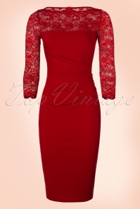 Vintage Chic Red Lace Pencil Dress 100 20 19651 20161010 0003w