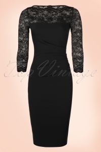 Vintage Chic Black Lace Pencil Dress 100 10 19650 20161010 0003w
