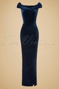 Vintage Chic Velvet Maxi Dress in Navy Blue 108 31 19634 20161010 0008w