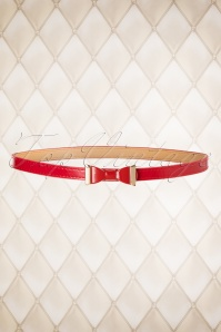 Summer Love Bow Belt Années 1960 en Rouge