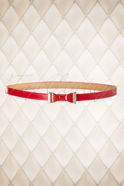 Dancing Days by Banned Ribbon Belt in Red 230 20 20088 10112016 007W