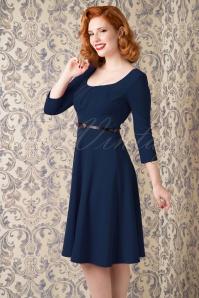 Vintage Chic Marcella Blue Swing Dress 102 31 16238 09252015 02WV