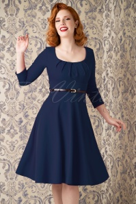 50s Marcella Swing Dress in Navy
