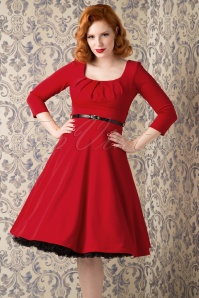 50s Marcella Swing Dress in Red