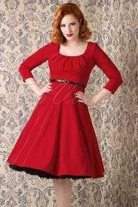 Vintage chic Marcella Red  wing Dress 102 20 16236 20150925 27V