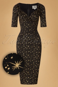 Collectif Clothing Trixie Atomic Star Pencil Dress 18874 20160531 0006W1