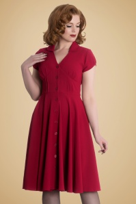 Bunny Keely Swing Dress in Red 102 20 19561 20161013 001