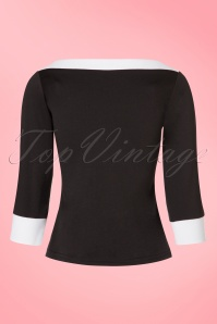 Steady Clothing Solid Boatneck Shirt in Black 113 10 19536 20161013 0013w