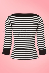 Steady Clothing Solid Boatneck Shirt in Black and White Stripes 113 14 19538 20161013 0009w