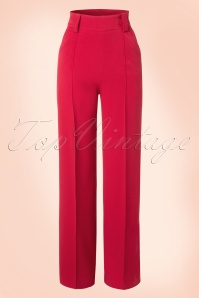40s Melissa Trousers in Red
