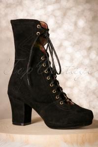 40s Lux Suede Booties in Black