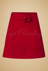 60s Dare to wear A-Line Skirt in Red
