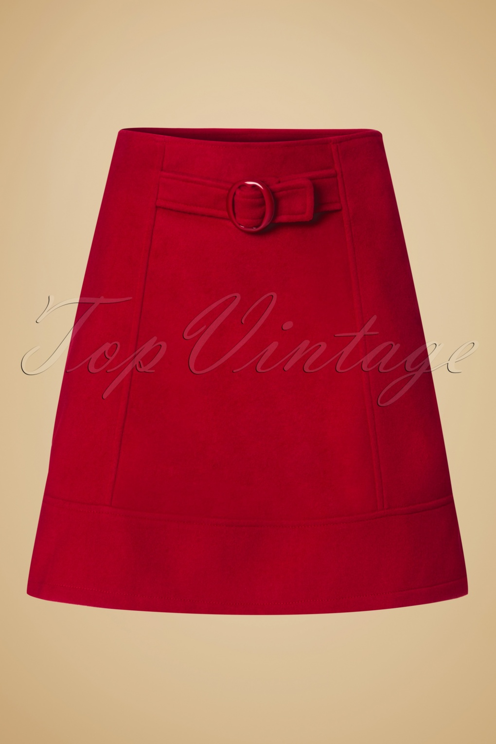 Retro Skirts: Vintage, Pencil, Circle, & Plus Sizes 60s Dare to wear A-Line Skirt in Red £25.22 AT vintagedancer.com
