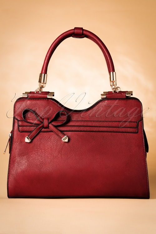 La Parisienne 40s Audrey Bag in Red 212 20 20239 20161014 0029w