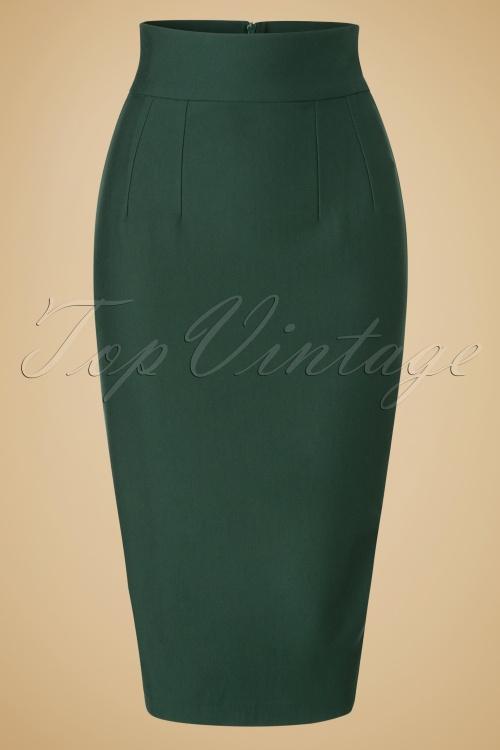 Glamour Bunny High Waist Green Wiggle Skirt 120 40 19685 20161014 0003W
