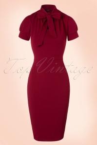 Vintage Chic 50s Bonnie Dress in Wine Red 100 20 19516 20161013 0004W