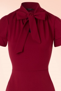 Vintage Chic 50s Bonnie Dress in Wine Red 100 20 19516 20161013 0004V