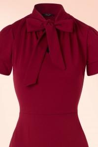 Vintage Chic 50s Bonnie Dress in Wine Red 100 20 19516 20161013 0004V