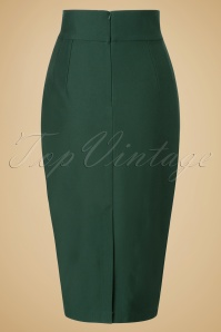Glamour Bunny High Waist Green Wiggle Skirt 120 40 19685 20161014 0009W