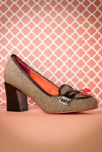 60s Lust for Life Tweed Pumps in Brown