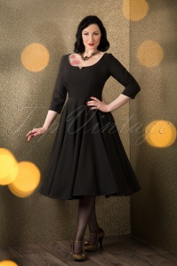 50s Serena Swing Dress in Black