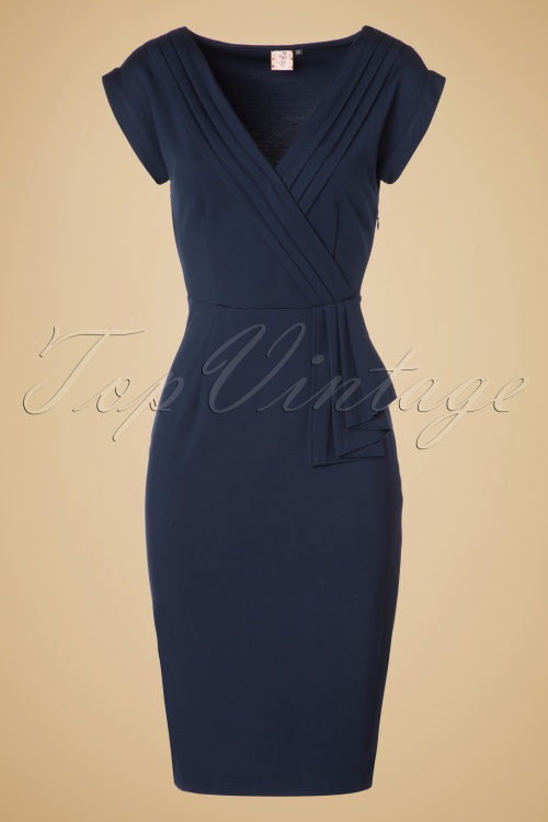 Dancing Days By Banned Evening Chic Navy Blue Pencil Dress 100 31 19719 20161014 0003W