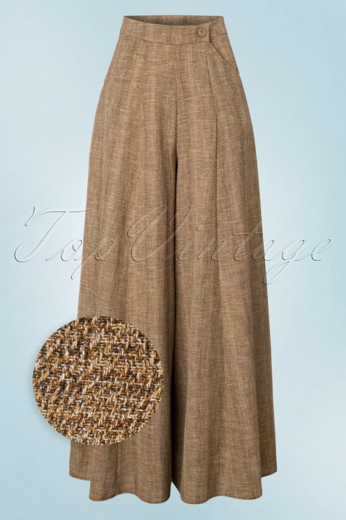 Miss Candyfloss Wide Trousers Sand Brown 131 52 19346 20161014 0004wv