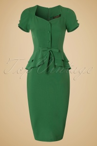 Stop Staring Green Rosemary Bow Pencil Dress 100 40 19483 20160701 0005W