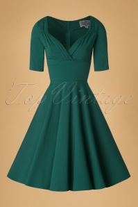 Collectif Clothing Trixie Swing Dress in Teal 16121 20160531 0005W