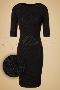 Vintage Chic Black Parkling Party Dress 100 10 19616 20161019 00061