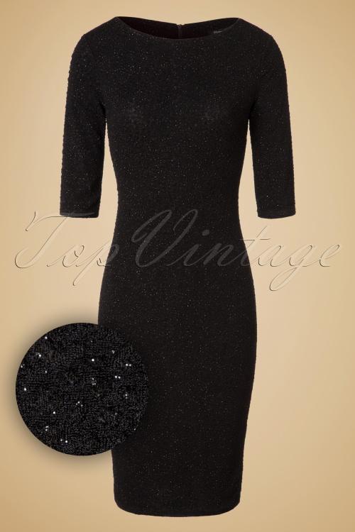 Vintage Chic Black Parkling Party Dress 100 10 19616 20161019 00061