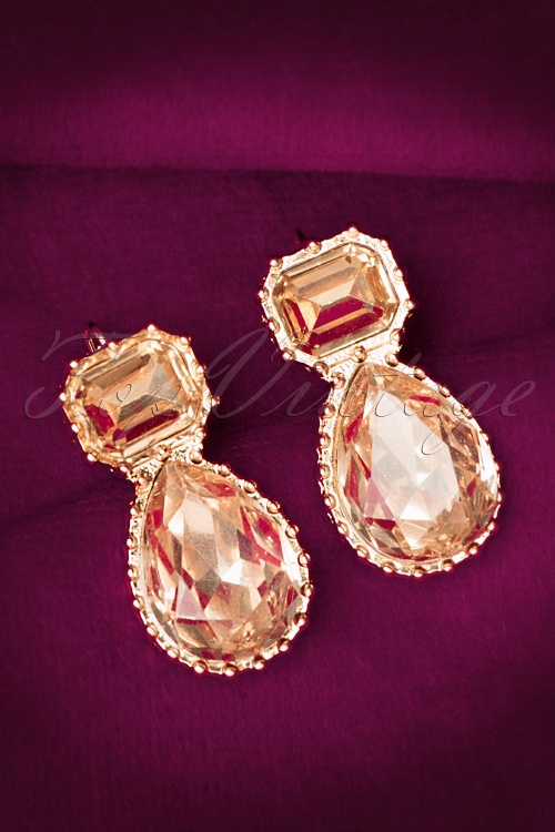 Glamfemme Crystal Gold Earrings 334 91 20299 10192016 007W