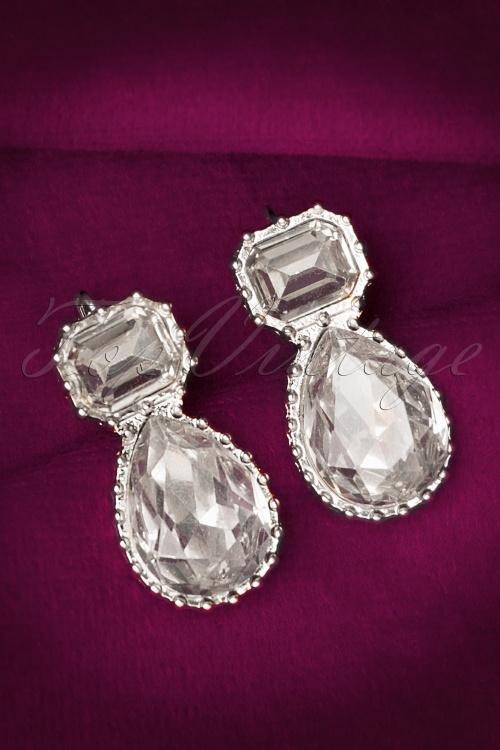 Glamfemme Crystal silver Earrings 335 92 20298 10112016 007W