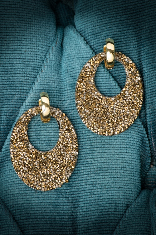 Glamfemme Gold Round Earrings 334 91 20302 10192016 003W