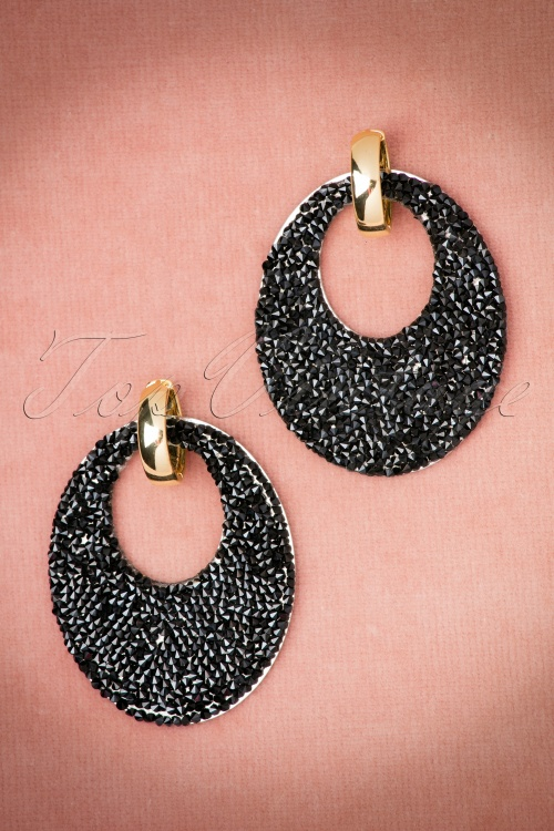 Glamfemme Gold and black Earrings 334 10 20301 10192016 003W