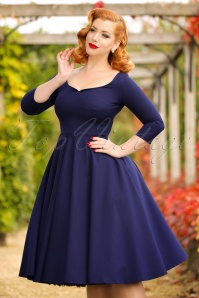 Glamour Bunny Serena Navy Blue Swing Dress 102 20 19683 20161014 025modelfotow