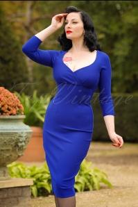 Glamour Bunny Melanie Cross Dress in Royal Blue 100 30 19687 20161013 0012Modelfoto2W
