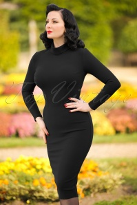 60s Lauren Pencil Dress in Black