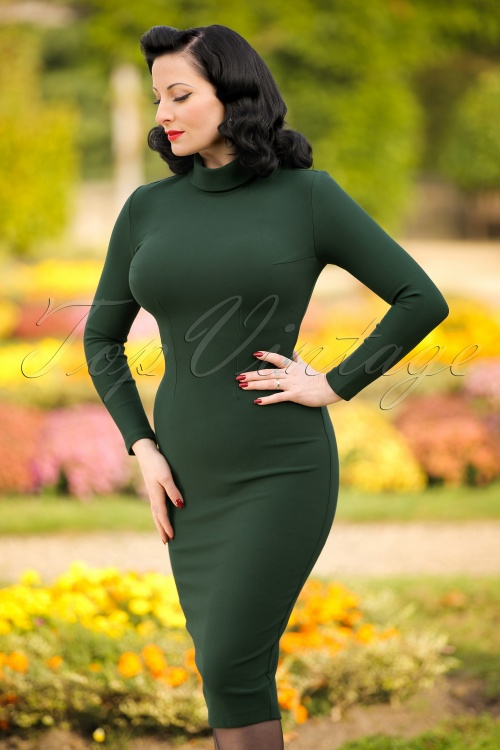 Glamour Bunny Lauren Pencil Turtleneck Dress 100 40 19691 20161014 0011 modelfotoW