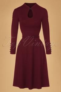 50s Dita Swing Dress in Burgundy