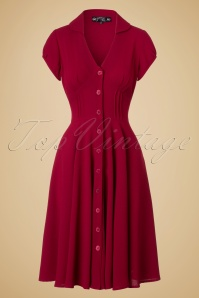 40s Keely Swing Dress in Red
