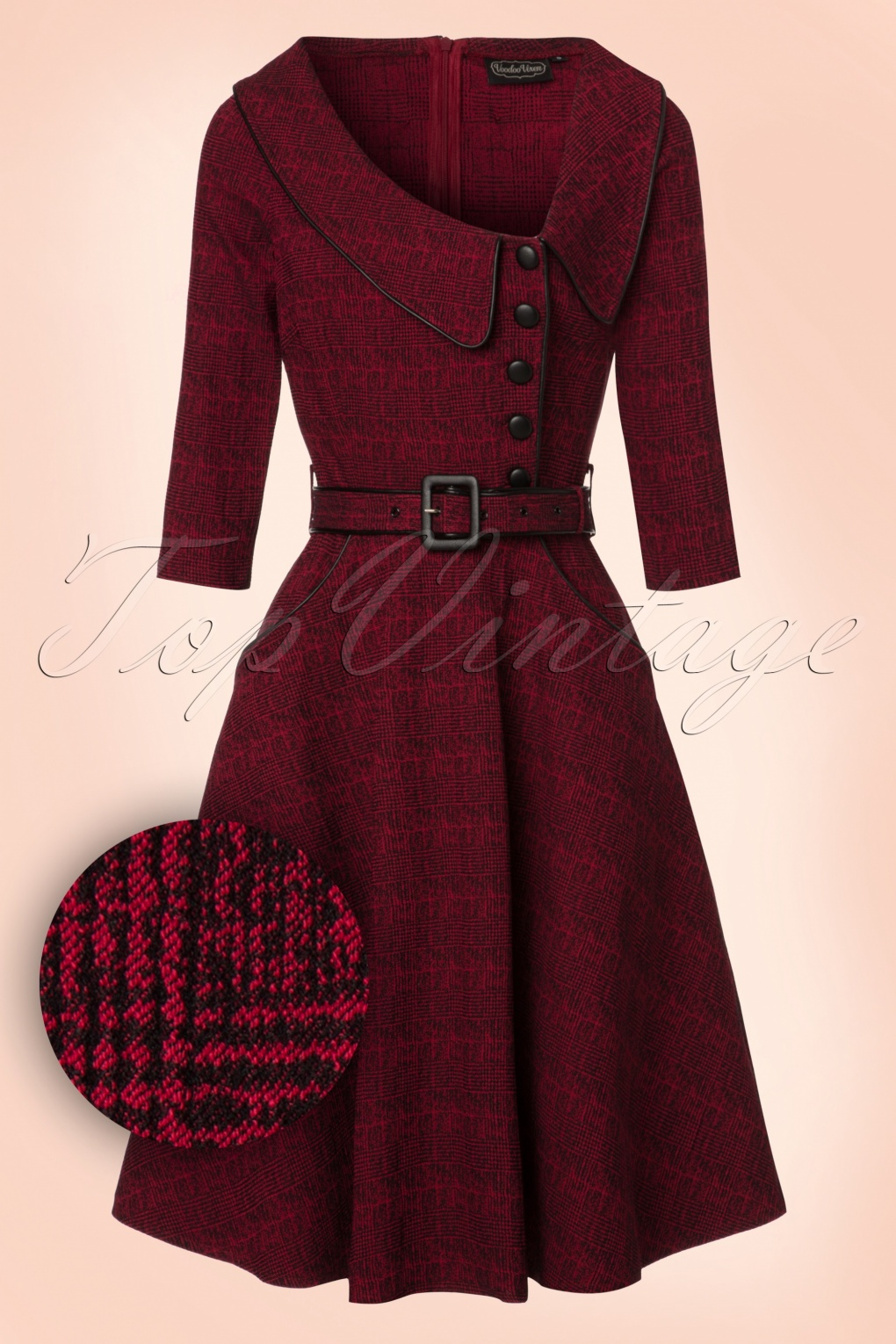 1940s Fashions In Red White Blue With Images: 40s Lilly Swing Dress In Wine Red