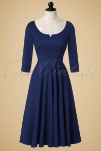 Glamour Bunny Serena Navy Blue Swing Dress 102 20 19683 20161014 0021pop